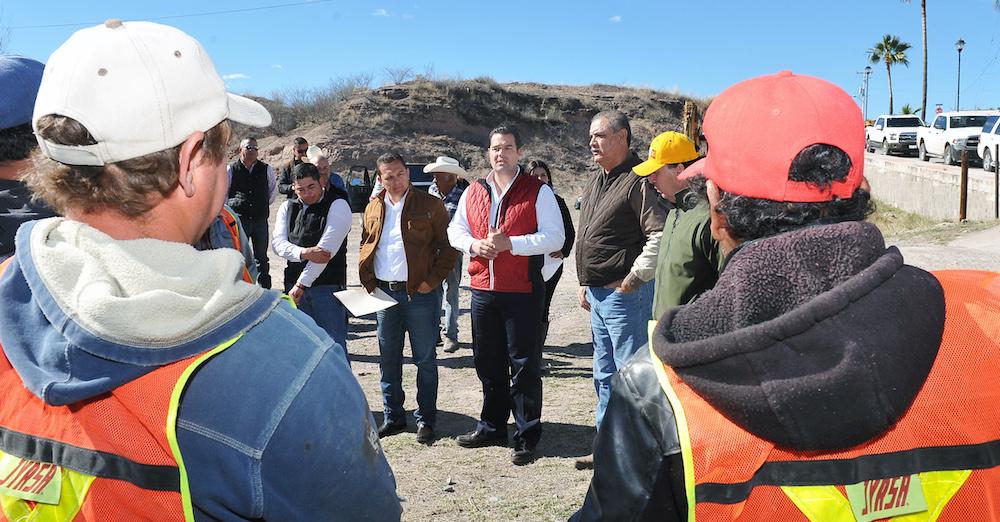 Supervisa SEDESSON Programa de Empleo Temporal en el Río Sonora