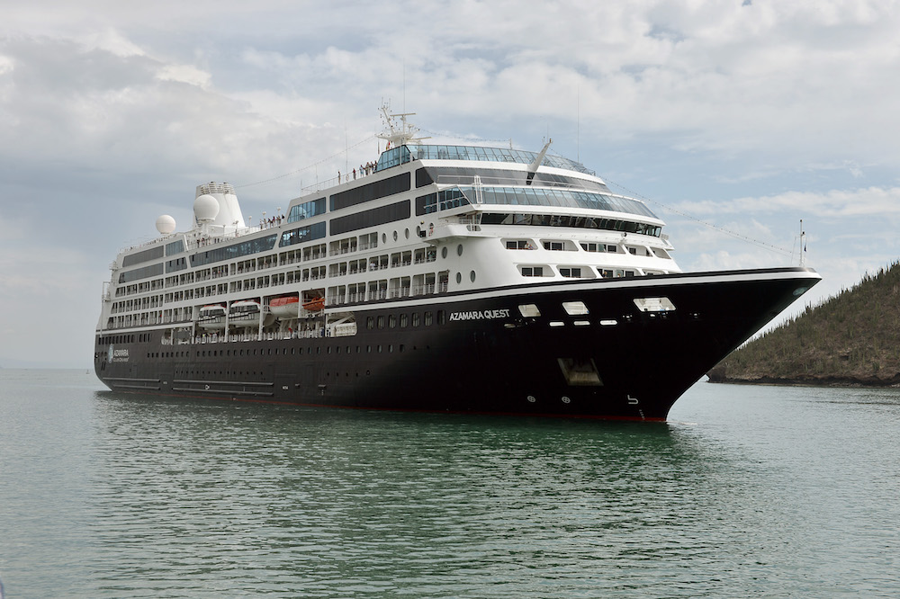 Arriba a puerto de Guaymas crucero turístico Azamara Quest
