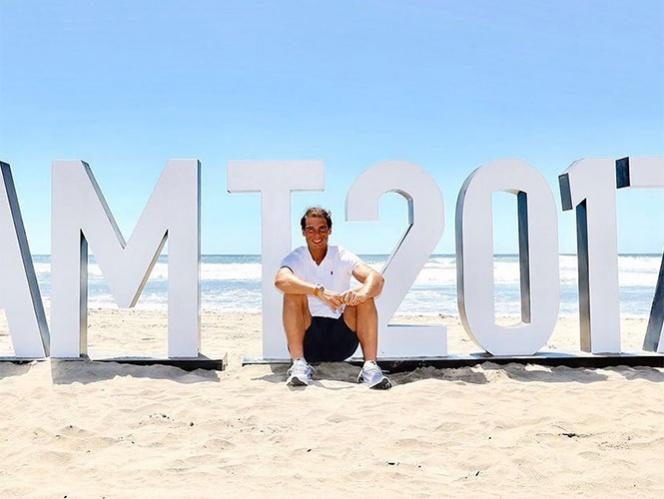 Rafael Nadal se siente como en casa en Acapulco