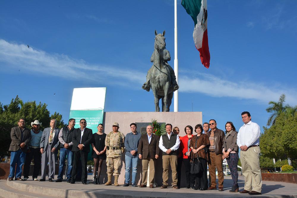 Conmemoran 137 aniversario del natalicio del general Álvaro Obregón Salido