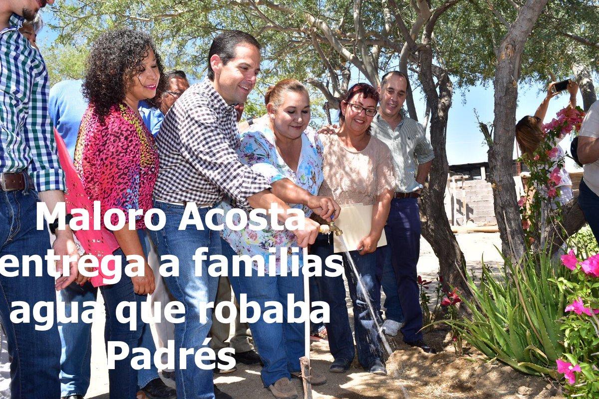 Llega el agua a familias