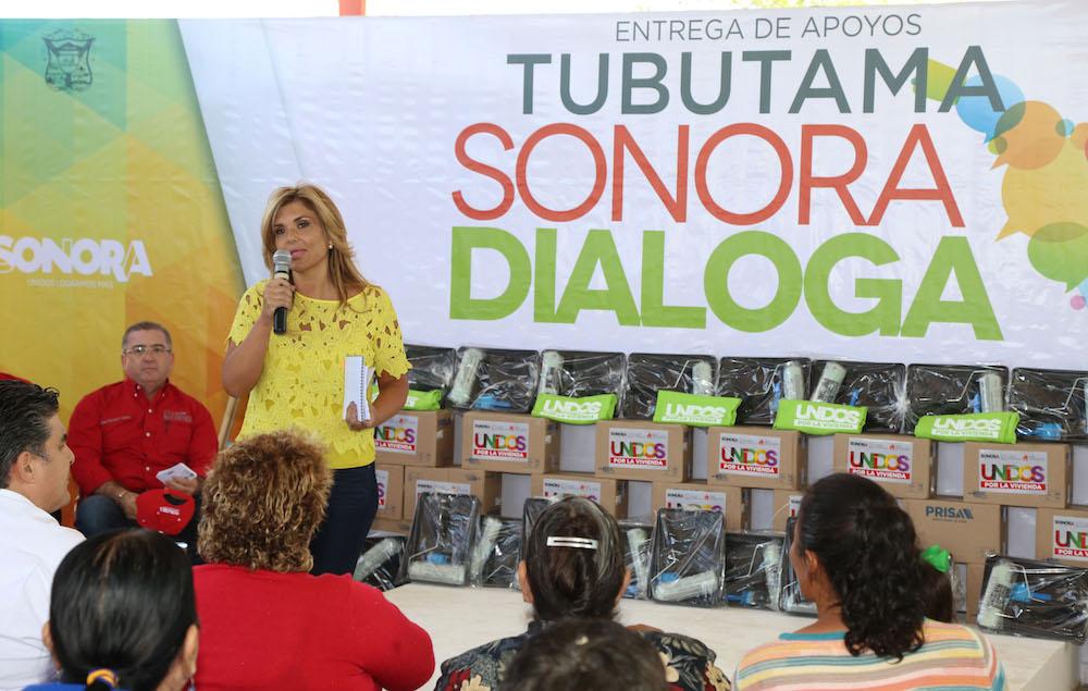 Lleva Gobernadora Claudia Pavlovich obras y dialoga con habitantes de 4 municipios