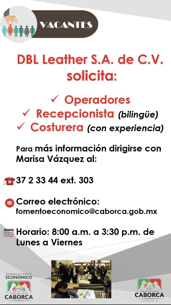 Abre Gobierno Municipal de Caborca bolsa de trabajo para maquiladora DBL Leathers
