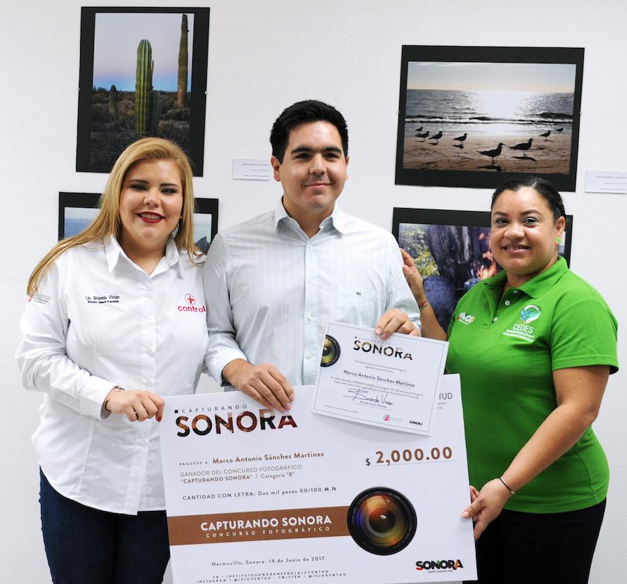 """Premia ISJuventud a ganadores del concurso """"Capturando Sonora"""""""