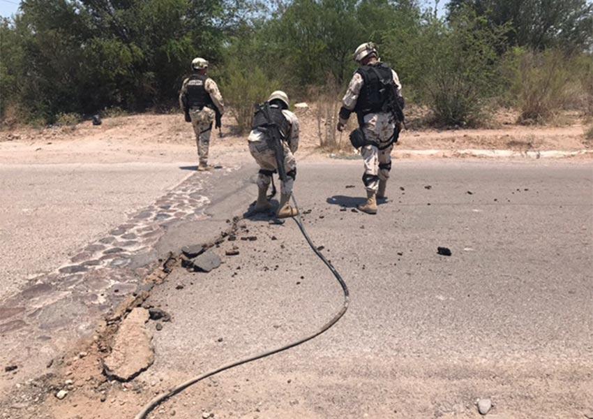 Ejército descubre centro de operación 'huachicolera' en costa de Sonora