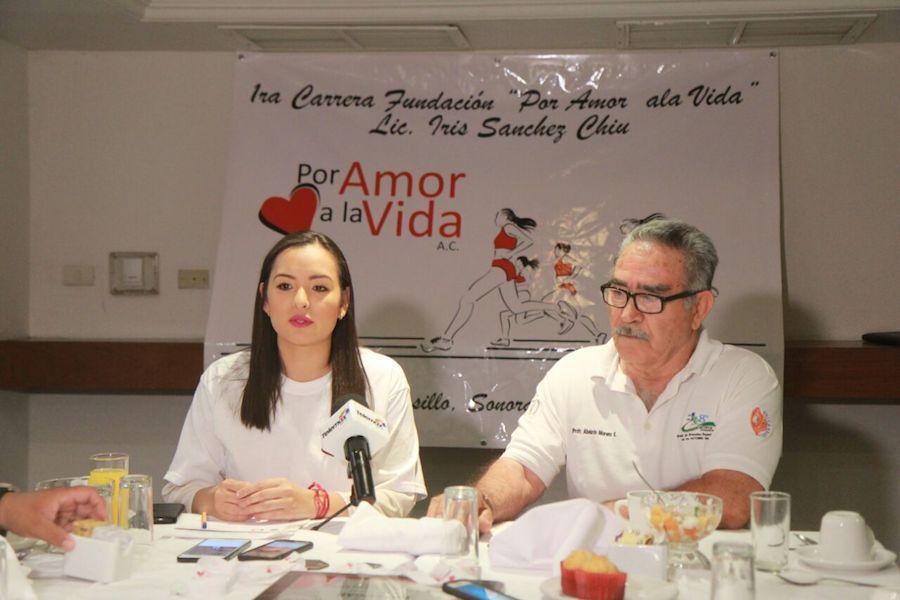 Anuncia Iris Sánchez primera carrera de la fundación