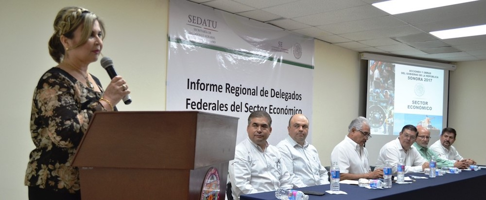 Presentan delegados federales informe regional en Caborca