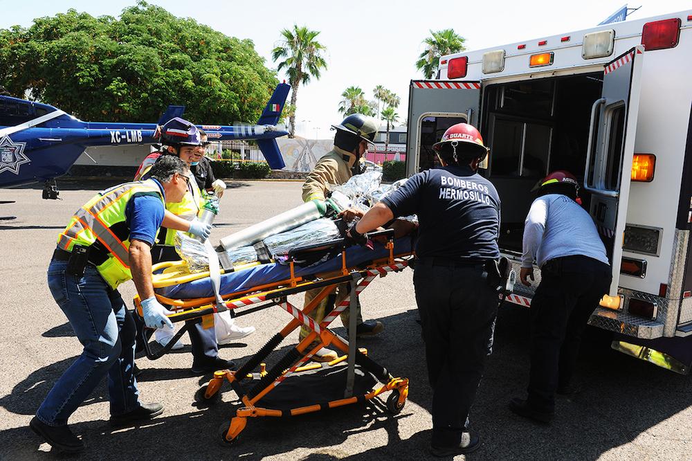 Se coordinan instituciones de salud en atención a lesionados en accidente carretero