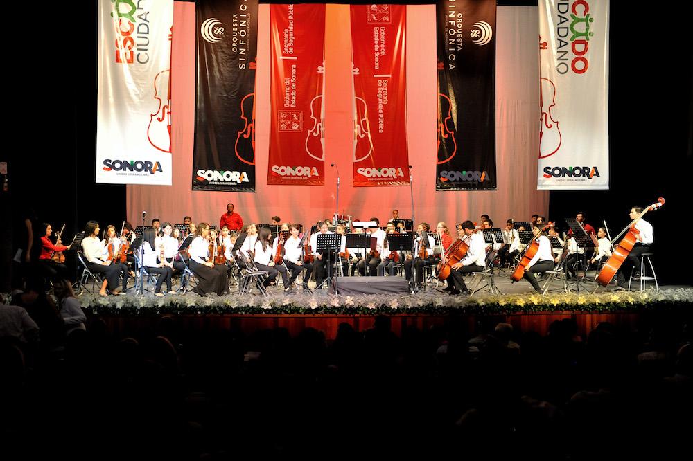 Ofrece concierto Orquesta Sinfónica Juvenil Escudo Ciudadano