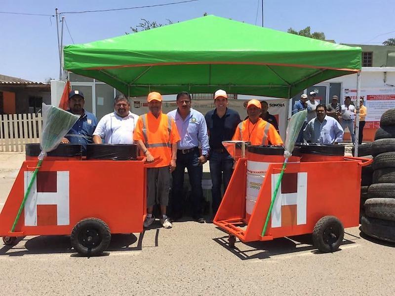Recolecta Servicios Públicos  350 neumáticos en Llantatón de Bahía de Kino