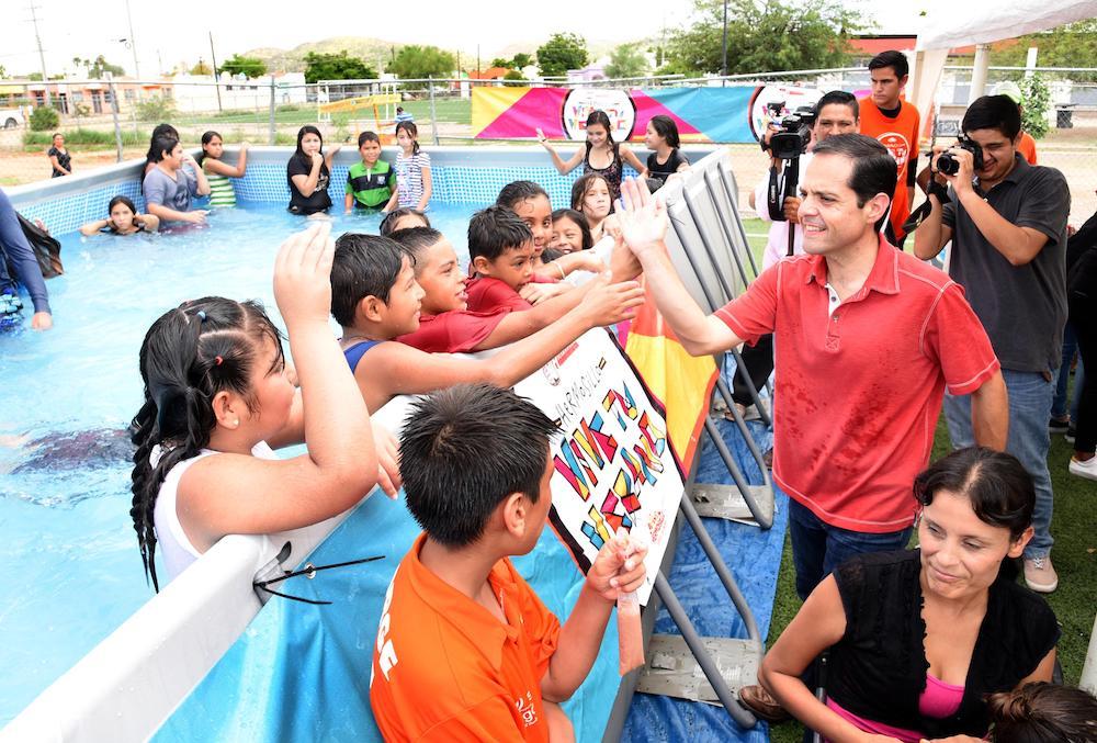 Visita Maloro Acosta Chapuzón en San Bosco