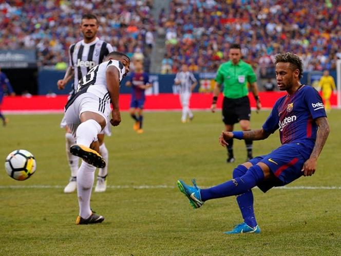 'Joyita' de Neymar en victoria del Barsa sobre la Juve