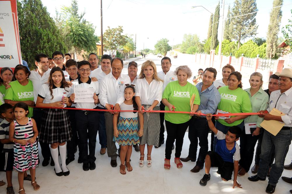 Cumple Gobernadora Pavlovich con apoyos en Nacozari, Santa Cruz y Esqueda