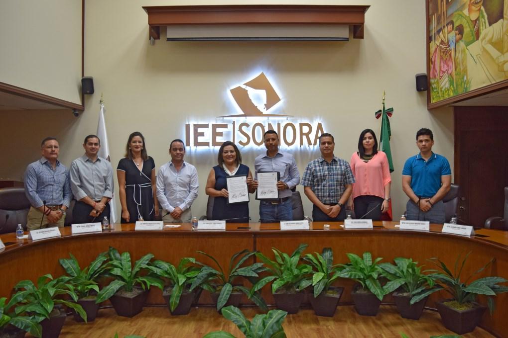 Firma IEE Sonora convenio de colaboración en materia de Participación Ciudadana con municipio de Empalme