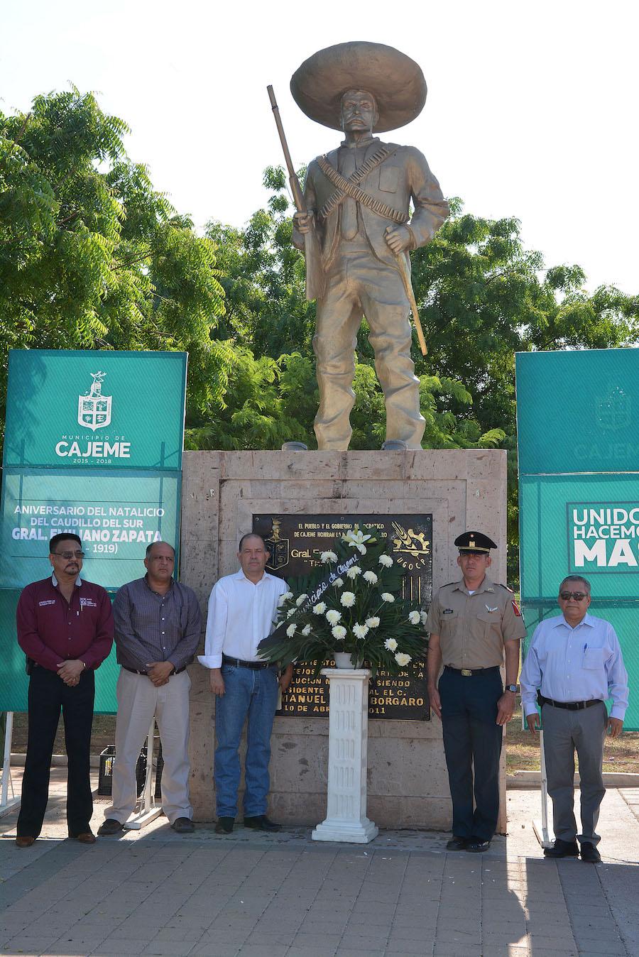 Conmemora Ayuntamiento de Cajeme 138 aniversario del natalicio de Emiliano Zapata