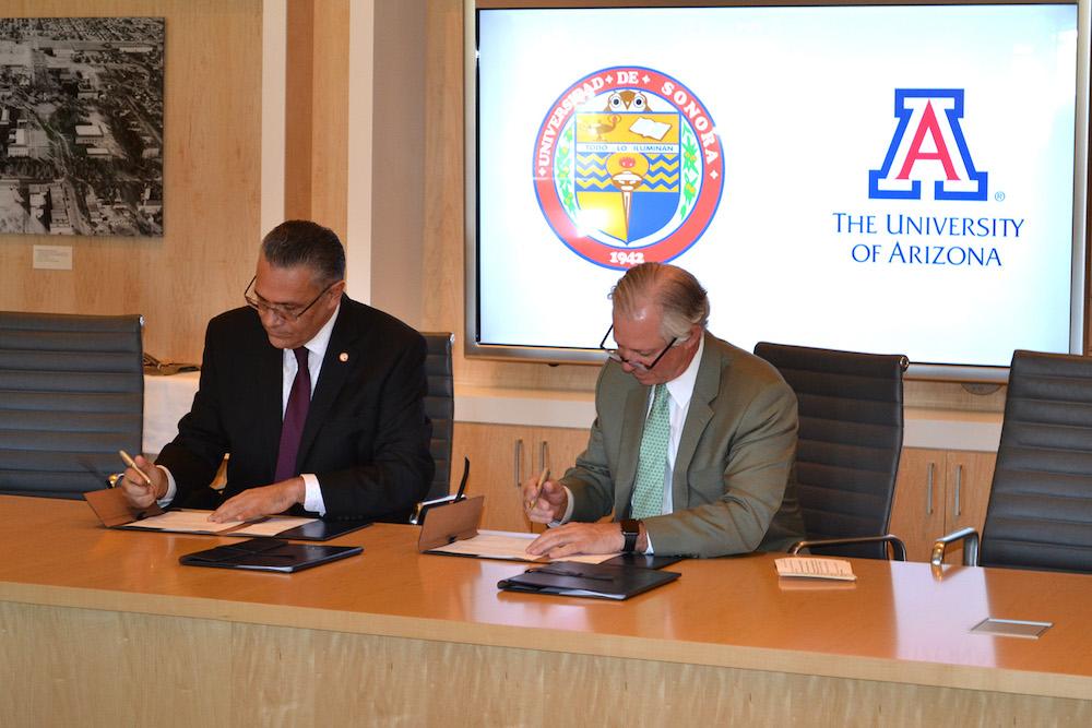 Fortalecen Unison y Universidad de Arizona intercambio en Derecho y Ciencias
