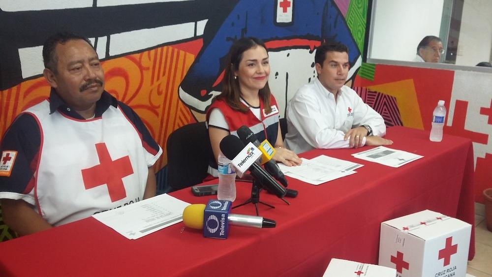 Instala la Cruz Roja Centro de Acopio para Alimentos
