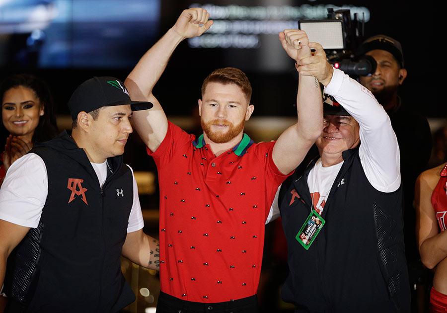 'Canelo' y Golovkin ya están en Las Vegas