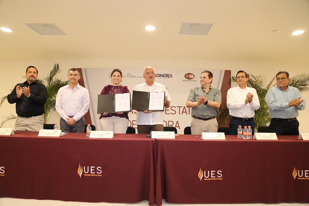 Firman convenio DIF Sonora y UES