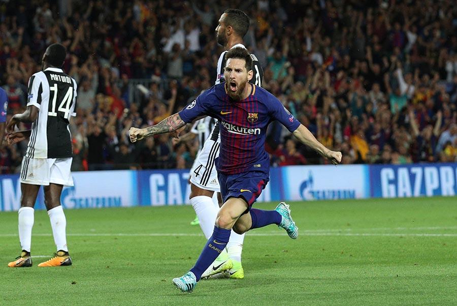 Messi termina con sequía ante Buffon y Barcelona golea a Juventus