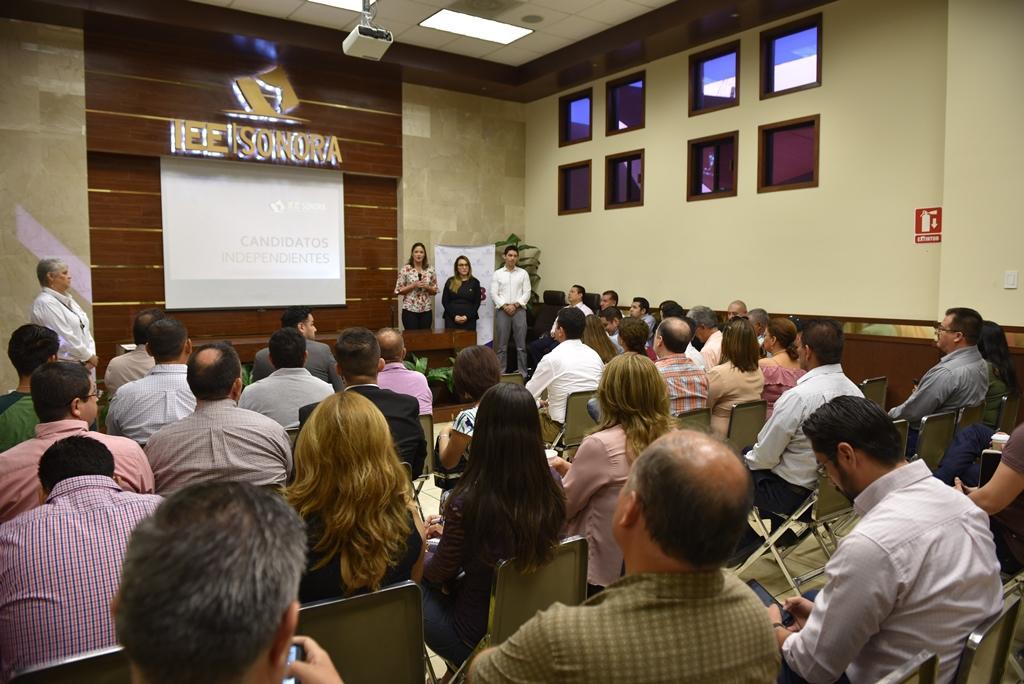 Ofrece IEE Sonora plática informativa sobre Candidaturas Independientes
