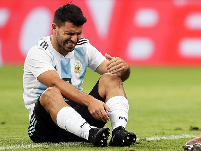 Agüero se desmaya en partido ante Nigeria