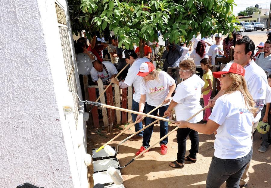 Inicia Gobernadora Pavlovich rescate de imagen urbana en colonias