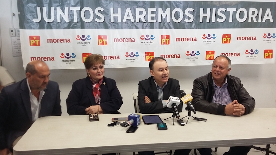 MORENA, PT y Encuentro Social van juntos en coalición