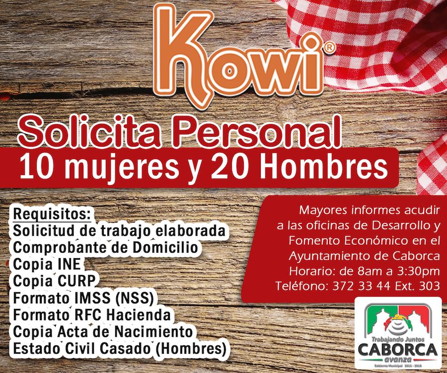Anuncia gobierno municipal de Caborca oportunidad de trabajo