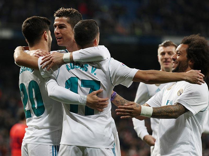 Con tres de Cristiano, el Madrid recobra moral
