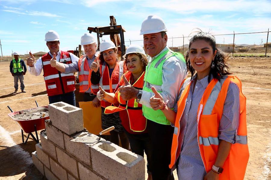 Colocan primera piedra del plantel CONALEP Sonora en Cananea