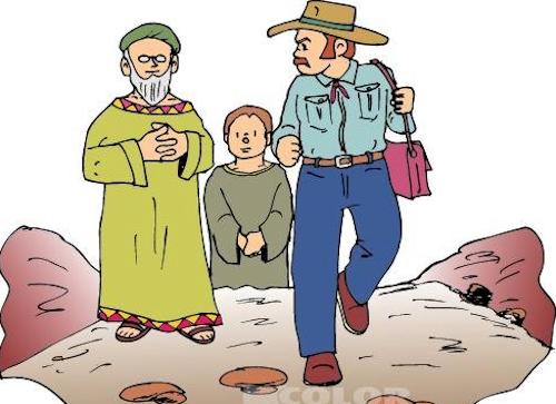 El sabio, su alumno y el terrateniente