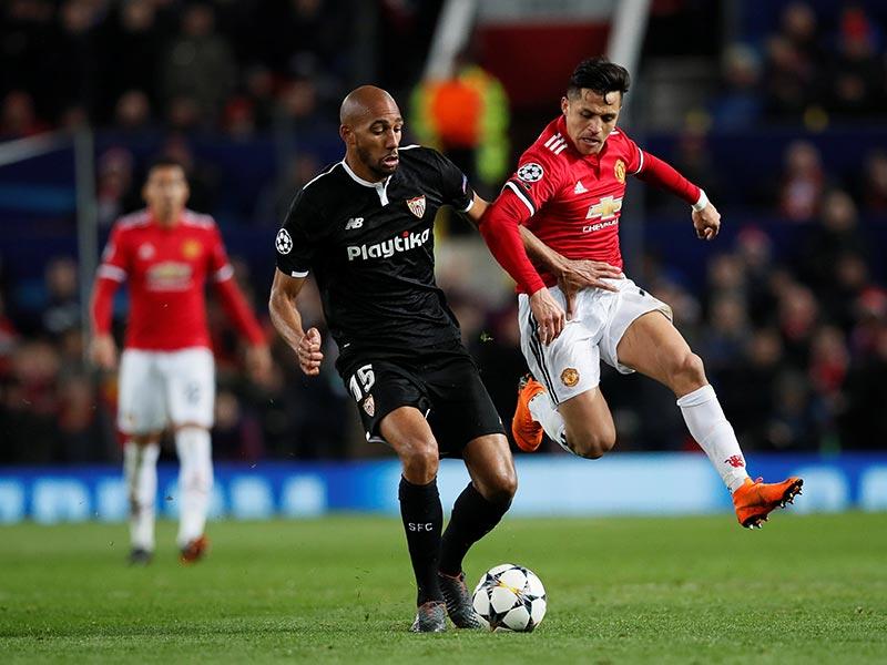 Sevilla vive un sueño ante el Manchester United