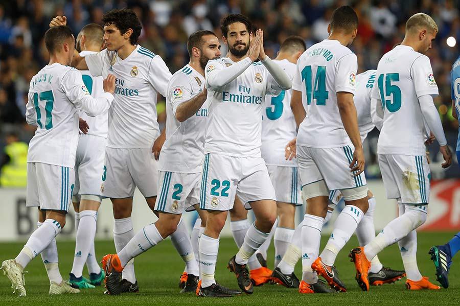 Isco guía triunfo del Real Madrid en Málaga