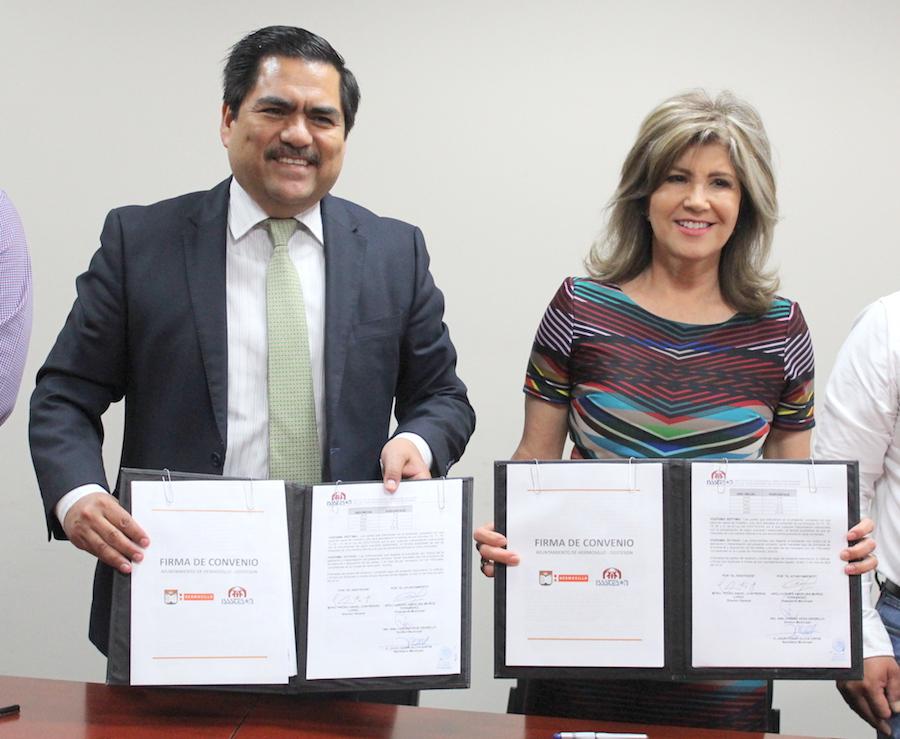 Firman ISSSTESON y Ayuntamiento de Hermosillo convenio