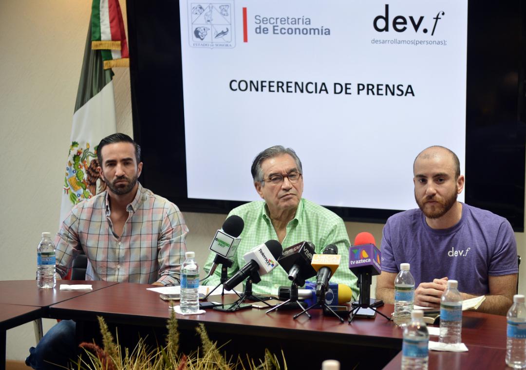 Anuncia Secretario de Economía llegada de empresa Dev.f a Sonora