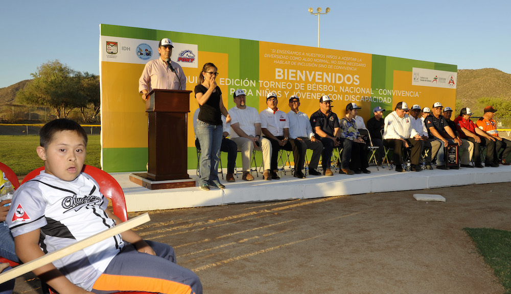 """Inaugura titular de CODESON """"Torneo Muy Especial"""" de beisbol"""