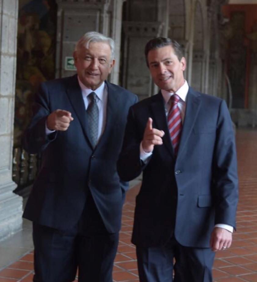 ¿Ya vieron, priistas de Sonora, cómo recibió Peña a López Obrador?