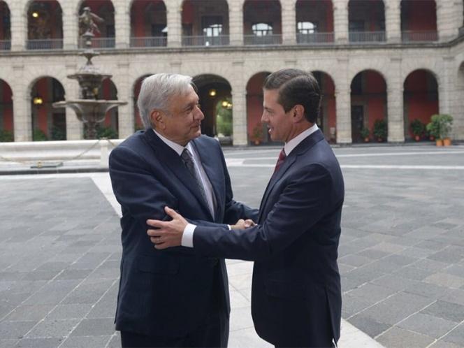Peña Nieto y López Obrador acuerdan acelerar creación de SSP y elección de fiscales