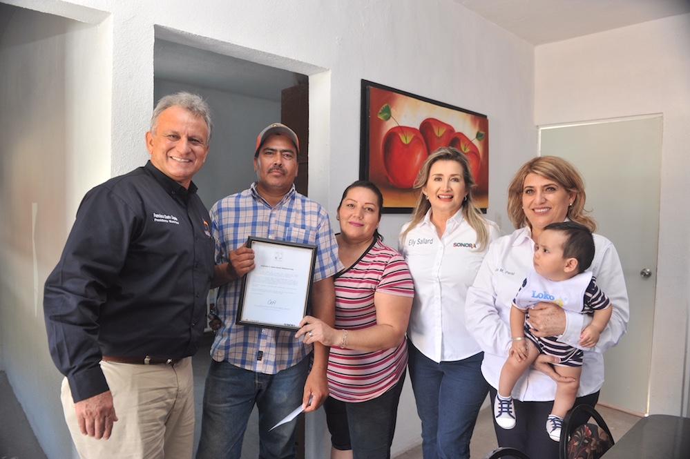 Tienen familias de Santa Ana y Magdalena de Kino vivienda digna y segura