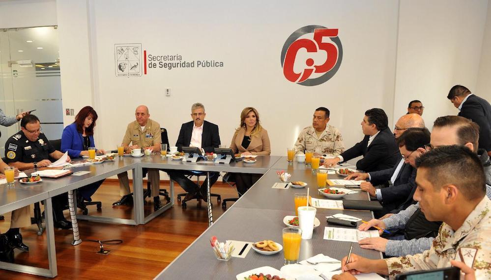 Preside Gobernadora reunión de la mesa de Coordinación de la Paz en Sonora