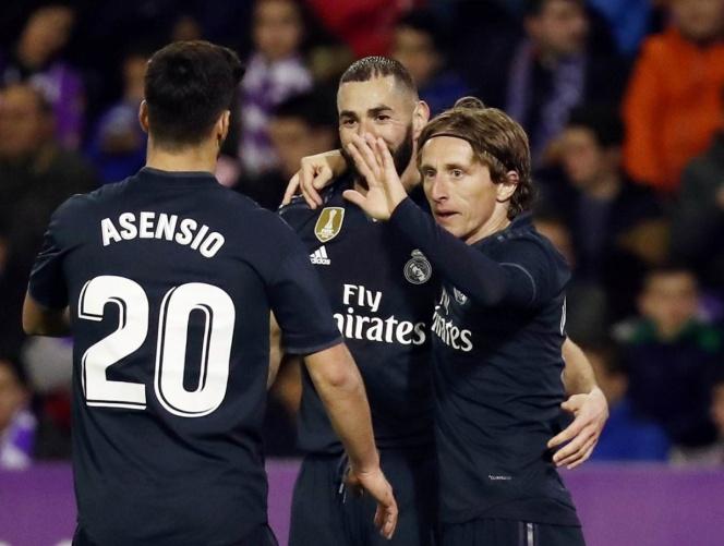Real Madrid sufre para golear al Valladolid