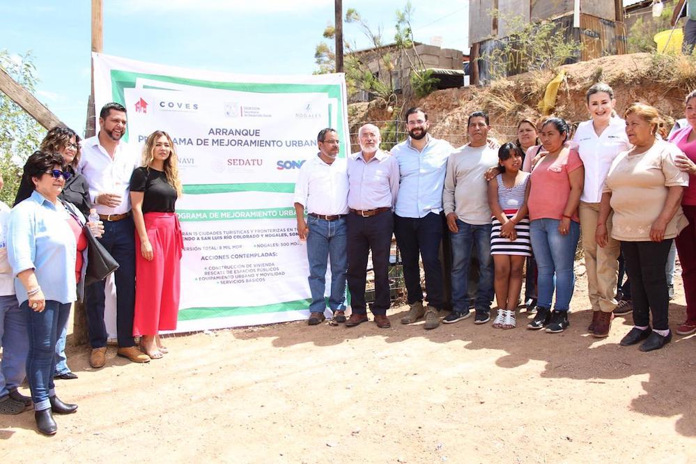 Inician Estado y Federación Programa de Mejoramiento Urbano en Nogales
