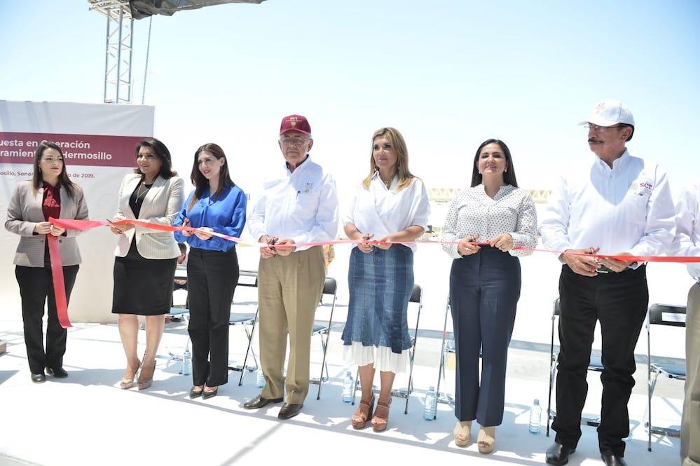 Inauguran Gobernadora y Secretario de SCT Libramiento Hermosillo