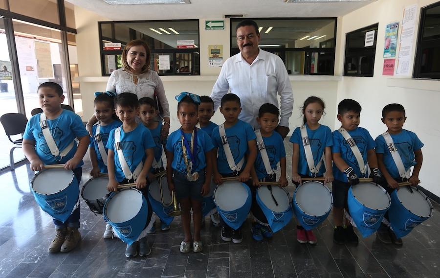 """Participarán """"Pequeños Gigantes"""" en Campeonato Nacional de Bandas de Guerra"""