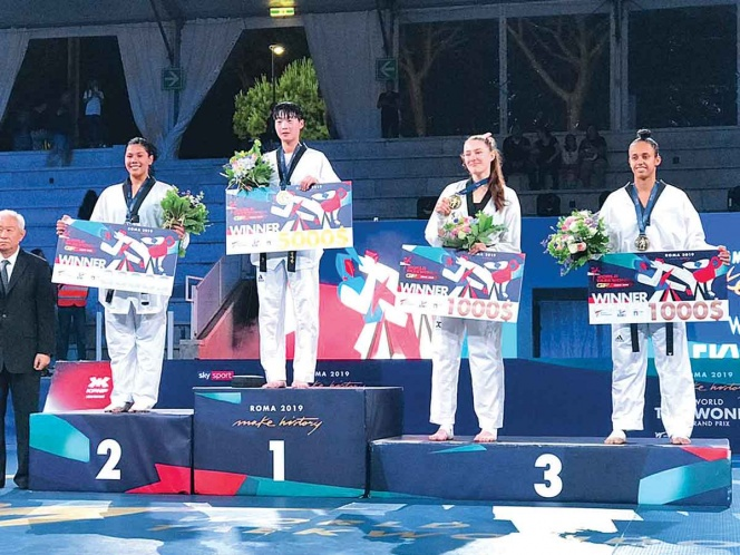 Briseida Acosta sube al podio en Roma, se cuelga una plata
