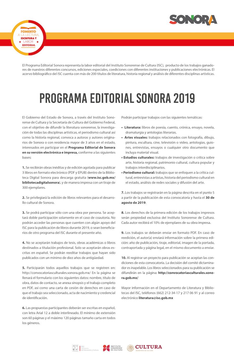 Podrán escritores sonorenses publicar su obra literaria