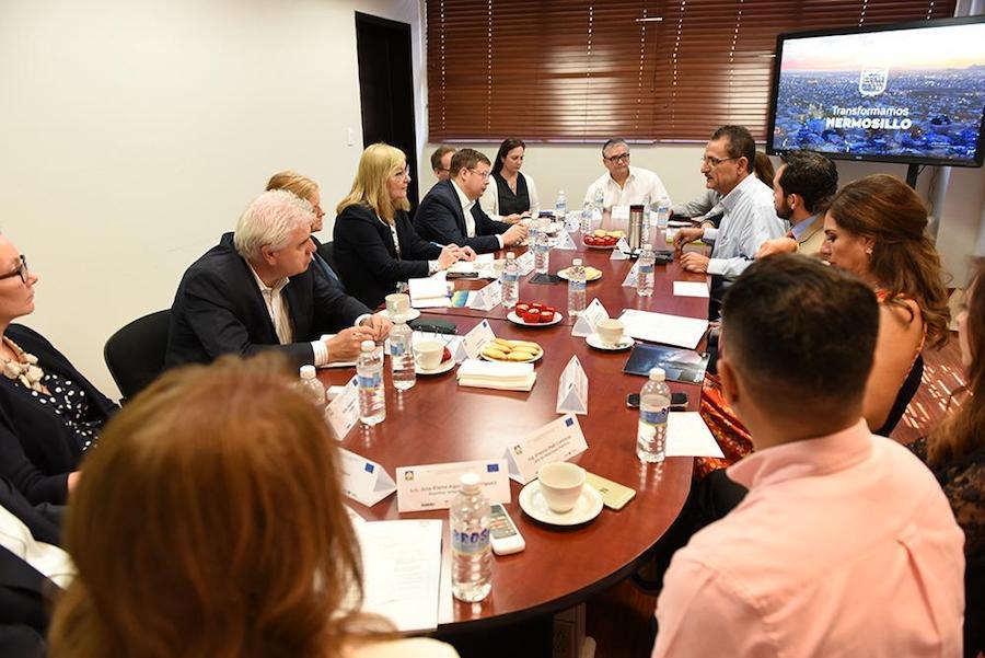 Comparten experiencias de Hermosillo con representantes de la Unión Europea