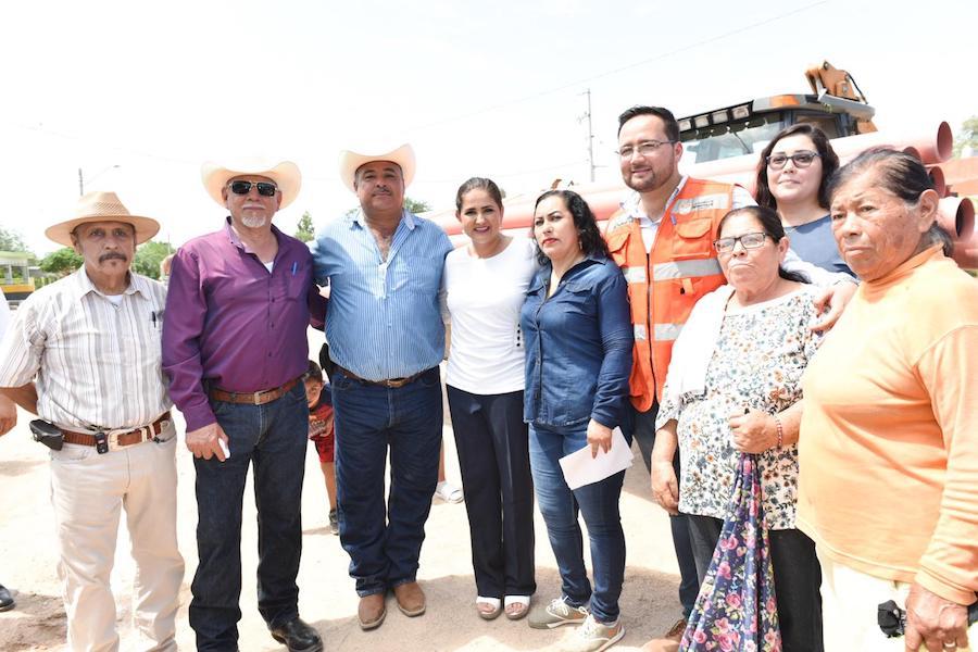 Alcaldesa Celida López dio arranque a la obra de construcción de la red de drenaje en el Ejido Zamora
