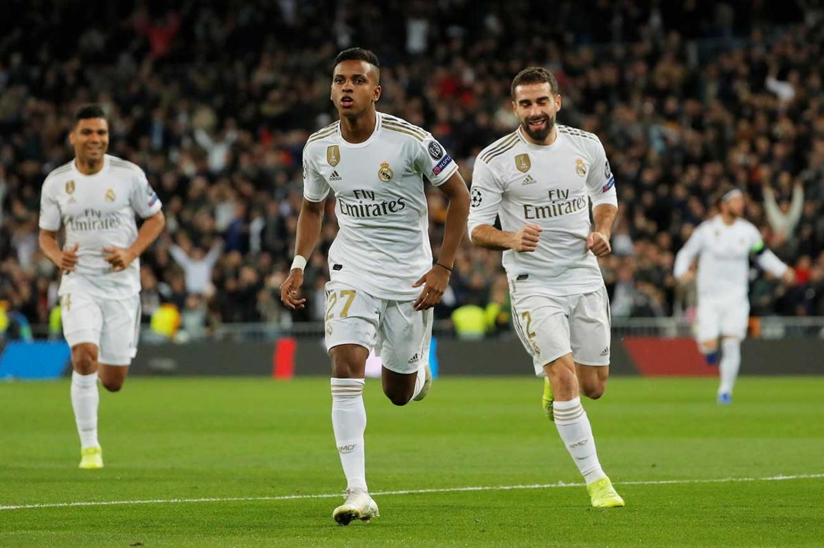 Rodrygo guía goleada del Real Madrid en Champions